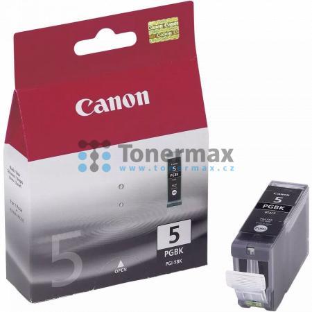 Canon PGI-5PGBk, 0628B001, originální cartridge pro tiskárny Canon PIXMA MP500, PIXMA MP510, PIXMA MP520, PIXMA MP520x, PIXMA MP530, PIXMA MP600, PIXMA MP600R, PIXMA MP610, PIXMA MP800, PIXMA MP800R, PIXMA MP810, PIXMA MP830, PIXMA MP960, PIXMA MP970, PIX