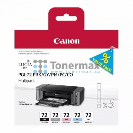 Canon PGI-72, PBK/GY/PM/PC/CO, 6403B007, multipack, originální cartridge pro tiskárny Canon PIXMA PRO-10, PIXMA PRO-10S