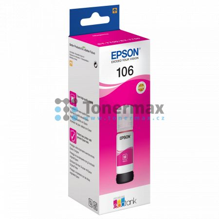 Epson 106, C13T00R340, ink bottle