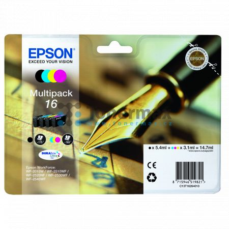 Epson 16, C13T16264010, originální cartridge pro tiskárny Epson WF-2010W, WorkForce WF-2010W, WF-2510, WorkForce WF-2510, WF-2510WF, WorkForce WF-2510WF, WF-2520, WorkForce WF-2520, WF-2520NF, WorkForce WF-2520NF, WF-2530, WorkForce WF-2530, WF-2530WF, Wo