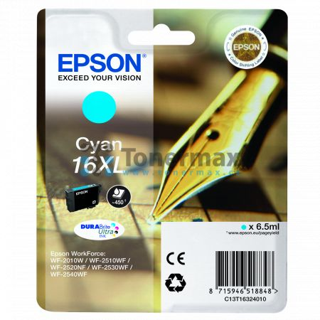 Epson 16XL, C13T16324010, originální cartridge pro tiskárny Epson WF-2010W, WorkForce WF-2010W, WF-2510, WorkForce WF-2510, WF-2510WF, WorkForce WF-2510WF, WF-2520, WorkForce WF-2520, WF-2520NF, WorkForce WF-2520NF, WF-2530, WorkForce WF-2530, WF-2530WF,