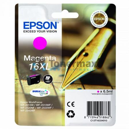 Epson 16XL, C13T16334010, originální cartridge pro tiskárny Epson WF-2010W, WorkForce WF-2010W, WF-2510, WorkForce WF-2510, WF-2510WF, WorkForce WF-2510WF, WF-2520, WorkForce WF-2520, WF-2520NF, WorkForce WF-2520NF, WF-2530, WorkForce WF-2530, WF-2530WF,