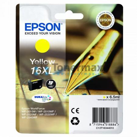 Epson 16XL, C13T16344010, originální cartridge pro tiskárny Epson WF-2010W, WorkForce WF-2010W, WF-2510, WorkForce WF-2510, WF-2510WF, WorkForce WF-2510WF, WF-2520, WorkForce WF-2520, WF-2520NF, WorkForce WF-2520NF, WF-2530, WorkForce WF-2530, WF-2530WF,