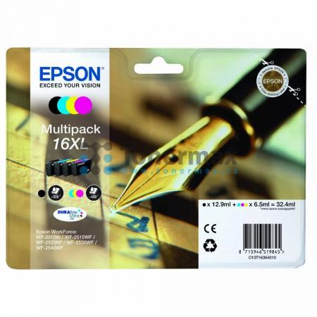 Epson 16XL, C13T16364010, originální cartridge pro tiskárny Epson WF-2010W, WorkForce WF-2010W, WF-2510, WorkForce WF-2510, WF-2510WF, WorkForce WF-2510WF, WF-2520, WorkForce WF-2520, WF-2520NF, WorkForce WF-2520NF, WF-2530, WorkForce WF-2530, WF-2530WF,