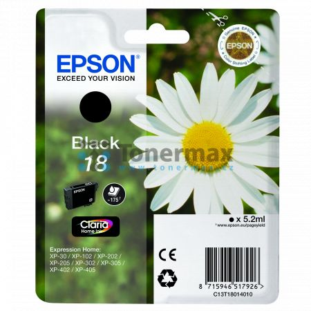 Epson 18, C13T18014010, originální cartridge pro tiskárny Epson XP-30, Expression Home XP-30, XP-102, Expression Home XP-102, XP-202, Expression Home XP-202, XP-205, Expression Home XP-205, XP-212, Expression Home XP-212, XP-215, Expression Home XP-215, X