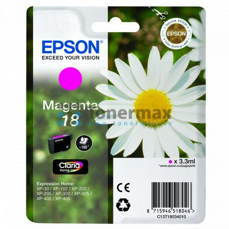 Epson 18, C13T18034010, originální cartridge pro tiskárny Epson XP-30, Expression Home XP-30, XP-102, Expression Home XP-102, XP-202, Expression Home XP-202, XP-205, Expression Home XP-205, XP-212, Expression Home XP-212, XP-215, Expression Home XP-215, X