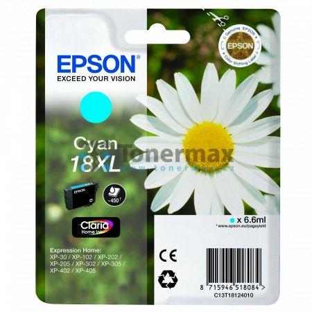 Epson 18XL, C13T18124010, originální cartridge pro tiskárny Epson XP-30, Expression Home XP-30, XP-102, Expression Home XP-102, XP-202, Expression Home XP-202, XP-205, Expression Home XP-205, XP-212, Expression Home XP-212, XP-215, Expression Home XP-215,