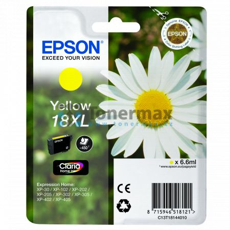 Epson 18XL, C13T18144010, originální cartridge pro tiskárny Epson XP-30, Expression Home XP-30, XP-102, Expression Home XP-102, XP-202, Expression Home XP-202, XP-205, Expression Home XP-205, XP-212, Expression Home XP-212, XP-215, Expression Home XP-215,