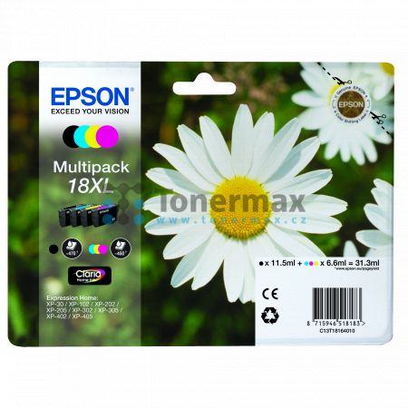 Epson 18XL, C13T18164010, originální cartridge pro tiskárny Epson XP-30, Expression Home XP-30, XP-102, Expression Home XP-102, XP-202, Expression Home XP-202, XP-205, Expression Home XP-205, XP-212, Expression Home XP-212, XP-215, Expression Home XP-215,