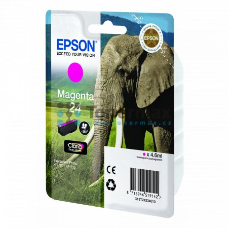 Epson 24, C13T24234010, originální cartridge pro tiskárny Epson XP-55, Expression Photo XP-55, XP-750, Expression Photo XP-750, XP-760, Expression Photo XP-760, XP-850, Expression Photo XP-850, XP-860, Expression Photo XP-860, XP-950, Expression Photo XP-