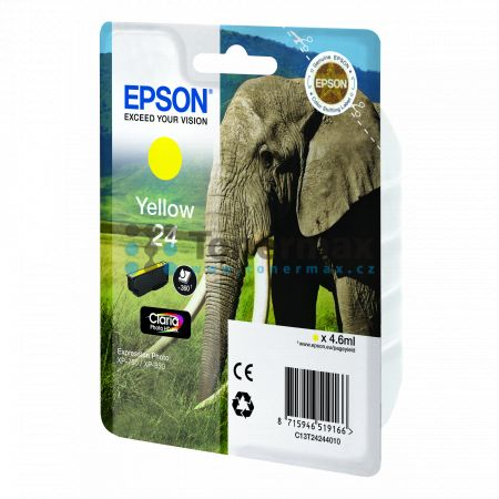 Epson 24, C13T24244010, originální cartridge pro tiskárny Epson XP-55, Expression Photo XP-55, XP-750, Expression Photo XP-750, XP-760, Expression Photo XP-760, XP-850, Expression Photo XP-850, XP-860, Expression Photo XP-860, XP-950, Expression Photo XP-