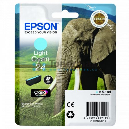 Epson 24, C13T24254010, originální cartridge pro tiskárny Epson XP-55, Expression Photo XP-55, XP-750, Expression Photo XP-750, XP-760, Expression Photo XP-760, XP-850, Expression Photo XP-850, XP-860, Expression Photo XP-860, XP-950, Expression Photo XP-