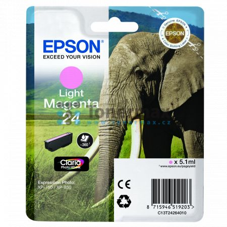 Epson 24, C13T24264010, originální cartridge pro tiskárny Epson XP-55, Expression Photo XP-55, XP-750, Expression Photo XP-750, XP-760, Expression Photo XP-760, XP-850, Expression Photo XP-850, XP-860, Expression Photo XP-860, XP-950, Expression Photo XP-
