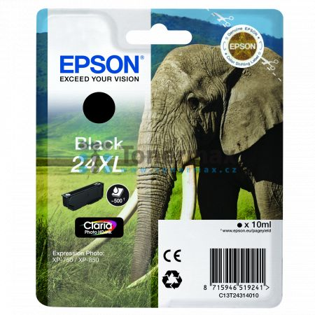 Epson 24XL, C13T24314010, originální cartridge pro tiskárny Epson XP-55, Expression Photo XP-55, XP-750, Expression Photo XP-750, XP-760, Expression Photo XP-760, XP-850, Expression Photo XP-850, XP-860, Expression Photo XP-860, XP-950, Expression Photo X