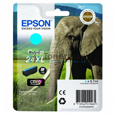 Epson 24XL, C13T24324010, originální cartridge pro tiskárny Epson XP-55, Expression Photo XP-55, XP-750, Expression Photo XP-750, XP-760, Expression Photo XP-760, XP-850, Expression Photo XP-850, XP-860, Expression Photo XP-860, XP-950, Expression Photo X