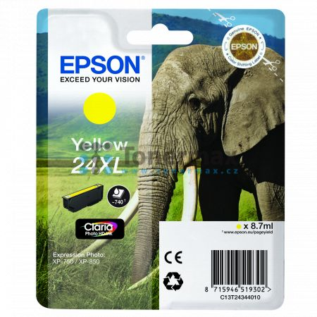 Epson 24XL, C13T24344010, originální cartridge pro tiskárny Epson XP-55, Expression Photo XP-55, XP-750, Expression Photo XP-750, XP-760, Expression Photo XP-760, XP-850, Expression Photo XP-850, XP-860, Expression Photo XP-860, XP-950, Expression Photo X