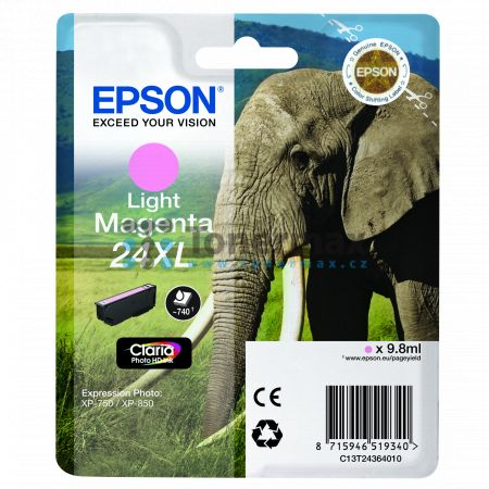 Epson 24XL, C13T24364010, originální cartridge pro tiskárny Epson XP-55, Expression Photo XP-55, XP-750, Expression Photo XP-750, XP-760, Expression Photo XP-760, XP-850, Expression Photo XP-850, XP-860, Expression Photo XP-860, XP-950, Expression Photo X