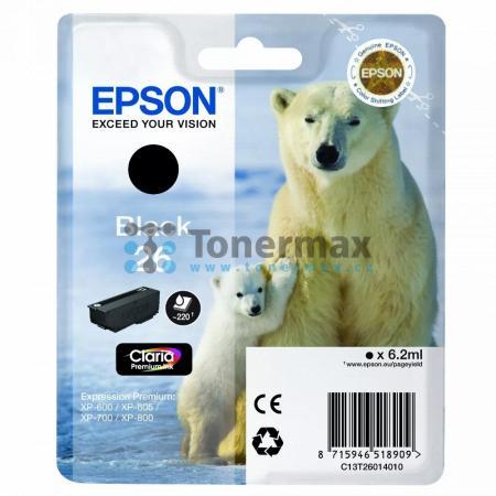 Epson 26, C13T26014010, originální cartridge pro tiskárny Epson XP-510, Expression Premium XP-510, XP-520, Expression Premium XP-520, XP-600, Expression Premium XP-600, XP-605, Expression Premium XP-605, XP-610, Expression Premium XP-610, XP-615, Expressi