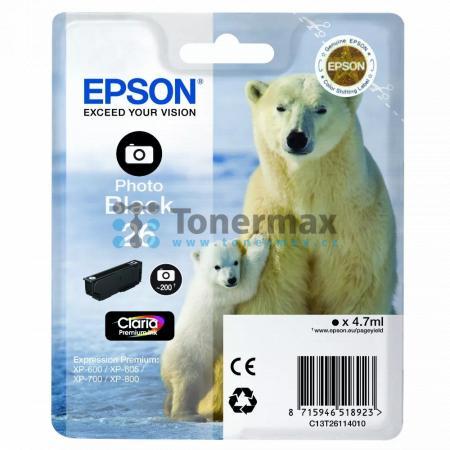 Epson 26, C13T26114010, originální cartridge pro tiskárny Epson XP-510, Expression Premium XP-510, XP-520, Expression Premium XP-520, XP-600, Expression Premium XP-600, XP-605, Expression Premium XP-605, XP-610, Expression Premium XP-610, XP-615, Expressi