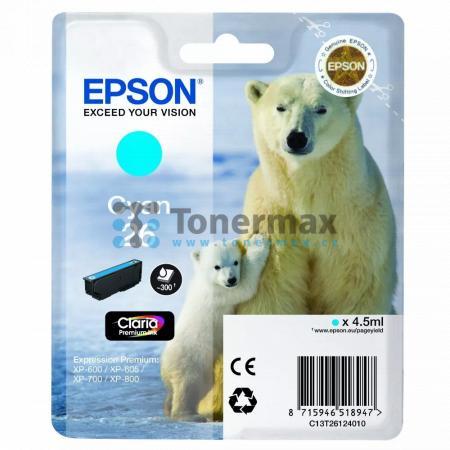 Epson 26, C13T26124010, originální cartridge pro tiskárny Epson XP-510, Expression Premium XP-510, XP-520, Expression Premium XP-520, XP-600, Expression Premium XP-600, XP-605, Expression Premium XP-605, XP-610, Expression Premium XP-610, XP-615, Expressi