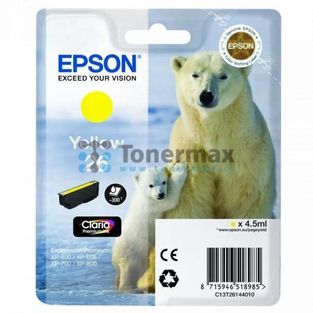 Epson 26, C13T26144010, originální cartridge pro tiskárny Epson XP-510, Expression Premium XP-510, XP-520, Expression Premium XP-520, XP-600, Expression Premium XP-600, XP-605, Expression Premium XP-605, XP-610, Expression Premium XP-610, XP-615, Expressi