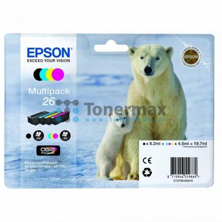 Epson 26, C13T26164010, originální cartridge pro tiskárny Epson XP-510, Expression Premium XP-510, XP-520, Expression Premium XP-520, XP-600, Expression Premium XP-600, XP-605, Expression Premium XP-605, XP-610, Expression Premium XP-610, XP-615, Expressi