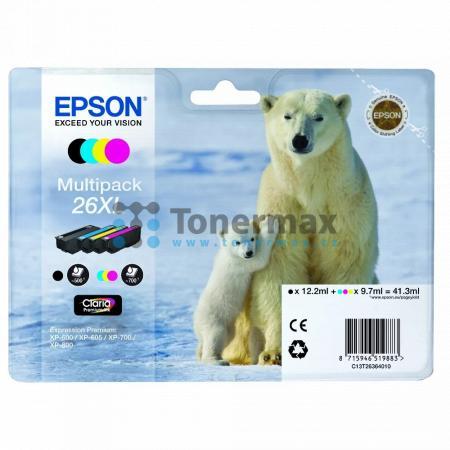 Epson 26XL, C13T26364010, originální cartridge pro tiskárny Epson XP-510, Expression Premium XP-510, XP-520, Expression Premium XP-520, XP-600, Expression Premium XP-600, XP-605, Expression Premium XP-605, XP-610, Expression Premium XP-610, XP-615, Expres