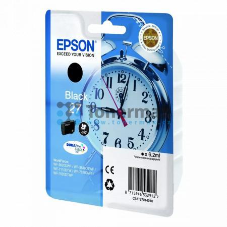 Epson 27, C13T27014010, originální cartridge pro tiskárny Epson WF-3620, WF-3640, WF-7110, WF-7610, WF-7620, WorkForce WF-3620, WorkForce WF-3620DWF, WorkForce WF-3640, WorkForce WF-3640DTWF, WorkForce WF-7110, WorkForce WF-7110DTW, WorkForce WF-7610, Wor