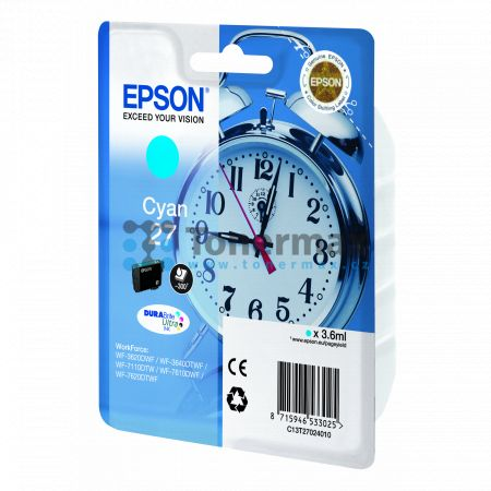 Epson 27, C13T27024010, originální cartridge pro tiskárny Epson WF-3620, WF-3640, WF-7110, WF-7610, WF-7620, WorkForce WF-3620, WorkForce WF-3620DWF, WorkForce WF-3640, WorkForce WF-3640DTWF, WorkForce WF-7110, WorkForce WF-7110DTW, WorkForce WF-7610, Wor