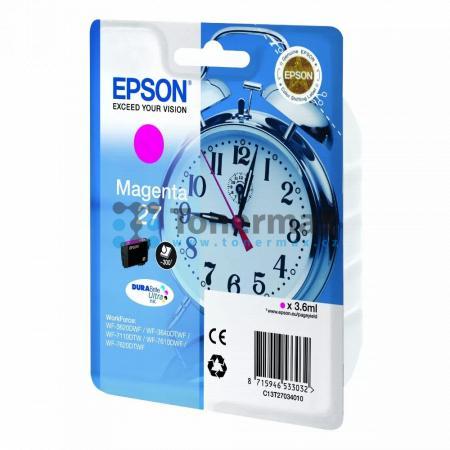 Epson 27, C13T27034010, originální cartridge pro tiskárny Epson WF-3620, WF-3640, WF-7110, WF-7610, WF-7620, WorkForce WF-3620, WorkForce WF-3620DWF, WorkForce WF-3640, WorkForce WF-3640DTWF, WorkForce WF-7110, WorkForce WF-7110DTW, WorkForce WF-7610, Wor