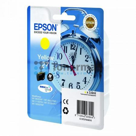 Epson 27, C13T27044010, originální cartridge pro tiskárny Epson WF-3620, WF-3640, WF-7110, WF-7610, WF-7620, WorkForce WF-3620, WorkForce WF-3620DWF, WorkForce WF-3640, WorkForce WF-3640DTWF, WorkForce WF-7110, WorkForce WF-7110DTW, WorkForce WF-7610, Wor