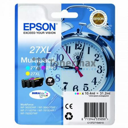 Epson 27XL, C13T27154010, Multipack, originální cartridge pro tiskárny Epson WF-3620, WF-3640, WF-7110, WF-7610, WF-7620, WorkForce WF-3620, WorkForce WF-3620DWF, WorkForce WF-3640, WorkForce WF-3640DTWF, WorkForce WF-7110, WorkForce WF-7110DTW, WorkForce