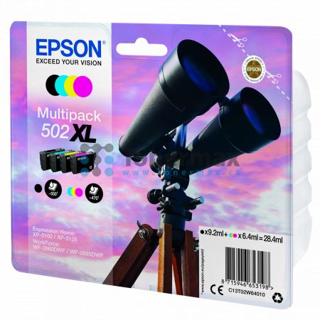 Epson 502XL, C13T02W64010, multipack