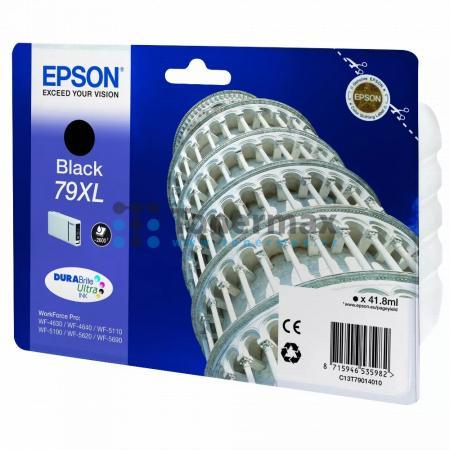 Epson 79XL, C13T79014010, originální cartridge pro tiskárny Epson WF-4630, WorkForce Pro WF-4630, WF-4630DWF, WorkForce Pro WF-4630DWF, WF-4640, WorkForce Pro WF-4640, WF-4640DTWF, WorkForce Pro WF-4640DTWF, WorkForce Pro WF-5110, WorkForce Pro WF-5110DW,