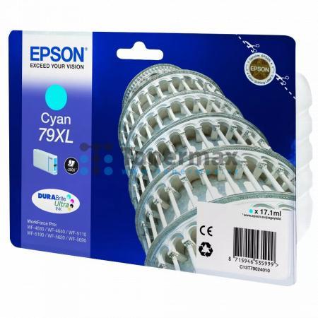 Epson 79XL, C13T79024010, originální cartridge pro tiskárny Epson WF-4630, WorkForce Pro WF-4630, WF-4630DWF, WorkForce Pro WF-4630DWF, WF-4640, WorkForce Pro WF-4640, WF-4640DTWF, WorkForce Pro WF-4640DTWF, WorkForce Pro WF-5110, WorkForce Pro WF-5110DW,