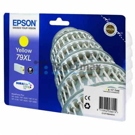 Epson 79XL, C13T79044010, originální cartridge pro tiskárny Epson WF-4630, WorkForce Pro WF-4630, WF-4630DWF, WorkForce Pro WF-4630DWF, WF-4640, WorkForce Pro WF-4640, WF-4640DTWF, WorkForce Pro WF-4640DTWF, WorkForce Pro WF-5110, WorkForce Pro WF-5110DW,