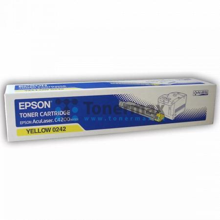 Epson S050242, C13S050242, originální toner pro tiskárny Epson AcuLaser C4200, AcuLaser C4200DN, AcuLaser C4200DNPC6, AcuLaser C4200DTN, AcuLaser C4200DTNPC5, AcuLaser C4200DTNPC6