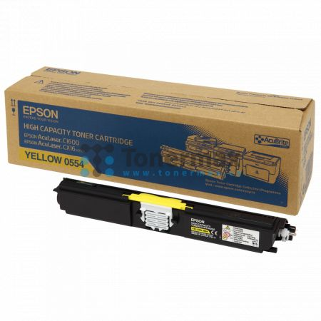Epson S050554, C13S050554, originální toner pro tiskárny Epson AcuLaser C1600, AcuLaser CX16, AcuLaser CX16DNF, AcuLaser CX16DTNF, AcuLaser CX16NF
