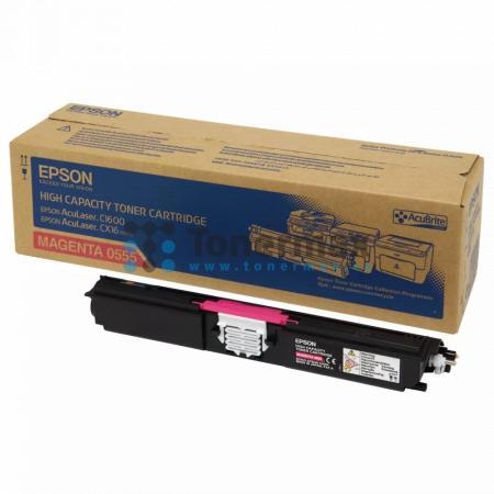 Epson S050555, C13S050555, originální toner pro tiskárny Epson AcuLaser C1600, AcuLaser CX16, AcuLaser CX16DNF, AcuLaser CX16DTNF, AcuLaser CX16NF