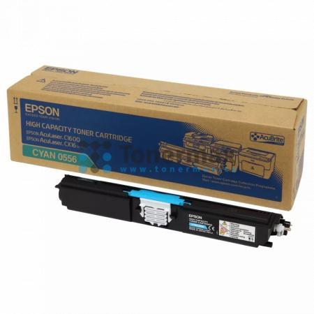 Epson S050556, C13S050556, originální toner pro tiskárny Epson AcuLaser C1600, AcuLaser CX16, AcuLaser CX16DNF, AcuLaser CX16DTNF, AcuLaser CX16NF