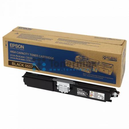 Epson S050557, C13S050557, originální toner pro tiskárny Epson AcuLaser C1600, AcuLaser CX16, AcuLaser CX16DNF, AcuLaser CX16DTNF, AcuLaser CX16NF