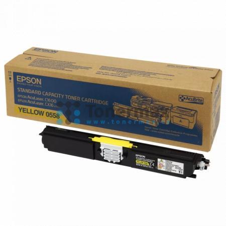 Epson S050558, C13S050558, originální toner pro tiskárny Epson AcuLaser C1600, AcuLaser CX16, AcuLaser CX16DNF, AcuLaser CX16DTNF, AcuLaser CX16NF