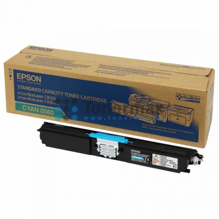 Epson S050560, C13S050560, originální toner pro tiskárny Epson AcuLaser C1600, AcuLaser CX16, AcuLaser CX16DNF, AcuLaser CX16DTNF, AcuLaser CX16NF