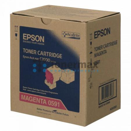 Epson S050591, C13S050591, originální toner pro tiskárny Epson AcuLaser C3900DN, AcuLaser C3900DTN, AcuLaser C3900N, AcuLaser C3900TN, AcuLaser CX37DN, AcuLaser CX37DNF, AcuLaser CX37DTN, AcuLaser CX37DTNF