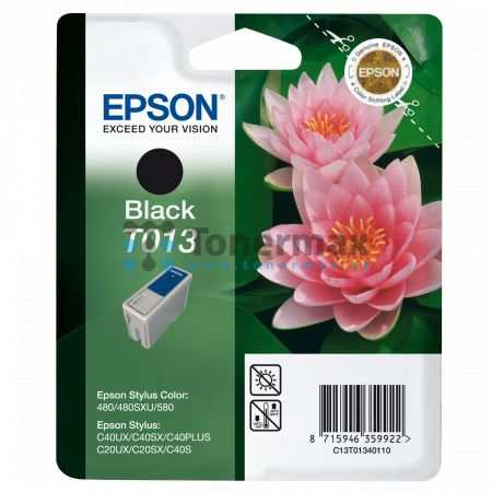 Epson T013, C13T01340110, originální cartridge pro tiskárny Epson Stylus C20SX, Stylus C20UX, Stylus C40PLUS, Stylus C40S, Stylus C40SX, Stylus C40UX, Stylus Color 480, Stylus Color 480SXU, Stylus Color 580