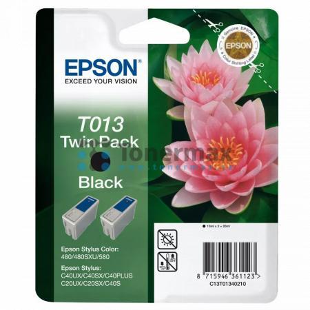 Epson T013, C13T01340210, dvoubalení, originální cartridge pro tiskárny Epson Stylus C20SX, Stylus C20UX, Stylus C40PLUS, Stylus C40S, Stylus C40SX, Stylus C40UX, Stylus Color 480, Stylus Color 480SXU, Stylus Color 580
