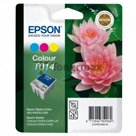 Epson T014, C13T01440110, originální cartridge pro tiskárny Epson Stylus C20SX, Stylus C20UX, Stylus C40PLUS, Stylus C40S, Stylus C40SX, Stylus C40UX, Stylus Color 480, Stylus Color 480SXU, Stylus Color 580