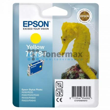 Epson T0484, C13T04844010, originální cartridge pro tiskárny Epson Stylus Photo R200, Stylus Photo R220, Stylus Photo R300, Stylus Photo R320, Stylus Photo R340, Stylus Photo RX500, Stylus Photo RX600, Stylus Photo RX620, Stylus Photo RX640