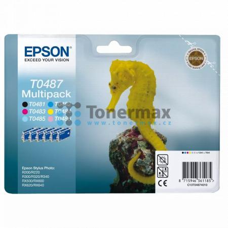 Epson T0487, C13T04874010, multipack, originální cartridge pro tiskárny Epson Stylus Photo R200, Stylus Photo R220, Stylus Photo R300, Stylus Photo R320, Stylus Photo R340, Stylus Photo RX500, Stylus Photo RX600, Stylus Photo RX620, Stylus Photo RX640