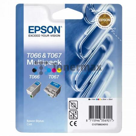 Epson T066 + T067, C13T06624010, originální cartridge pro tiskárny Epson Stylus C48